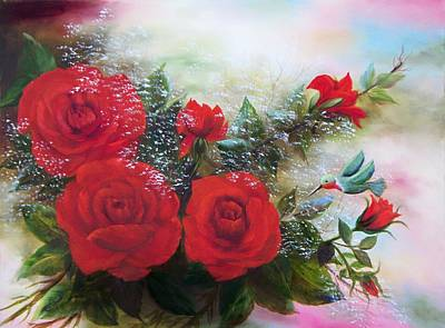 Painting - Red Roses by Joni McPherson