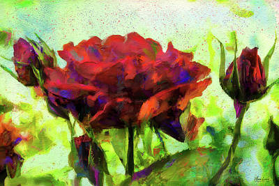 Photograph - Red Roses Melody by Anna Louise