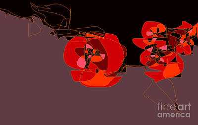 Digital Art - Red Roses by Nancy Kane Chapman