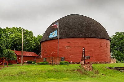 Photograph - Red Round Barn On Route 66 by Willie Harper