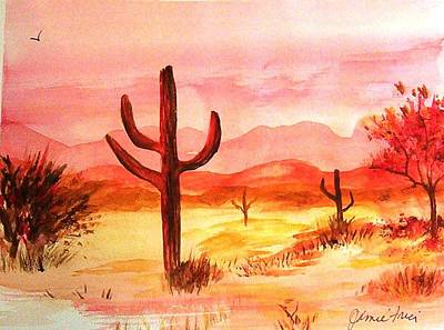 Painting - Red Saguaro by Jamie Frier