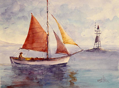 Painting - Red Sail... by Faruk Koksal