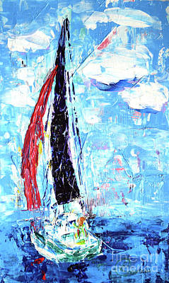 Painting - Red Sail by Lynda Cookson