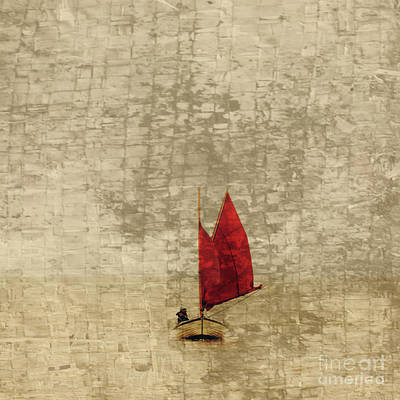With Red Photograph - Red Sail by Tony Higginson