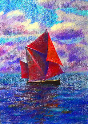 Red Sails Art Print by Anastasia Michaels
