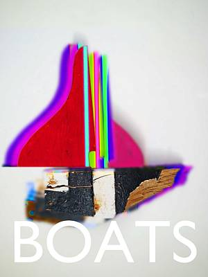 Boats Digital Art - Red Sails by Charles Stuart