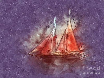 Painting - Red Sails by Methune Hively