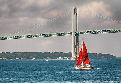 Photograph - Red Sails by Mick Burkey