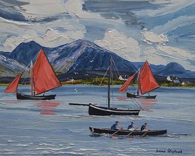 Painting - Red Sails Roundstone by Diana Shephard