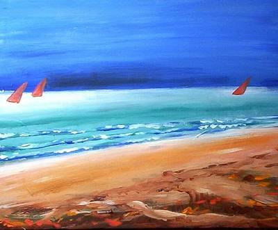 Painting - Red Sails by Winsome Gunning