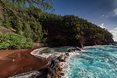 Photograph - Red Sand Blue Water by Matt Skinner