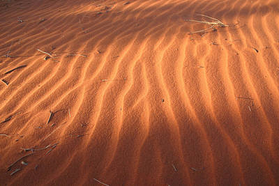 Photograph - Red Sand Dune Ripples In Detail by Keiran Lusk