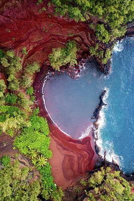 Photograph - Red Sand Heart by James Roemmling