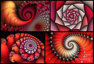 Digital Art - Red Saturday by Jutta Maria Pusl