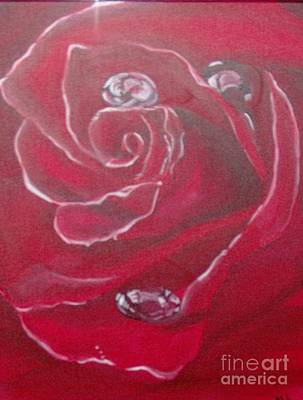 Art Print featuring the painting Red by Saundra Johnson