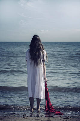 Teenagers Photograph - Red Scarf by Joana Kruse