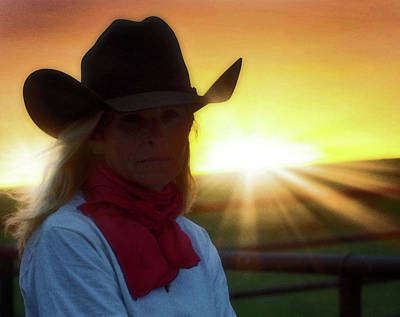 Photograph - Red Scarves And Sunsets by Amanda Smith