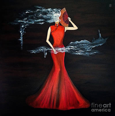 Painting - Scented Red Color by Fei Alexander