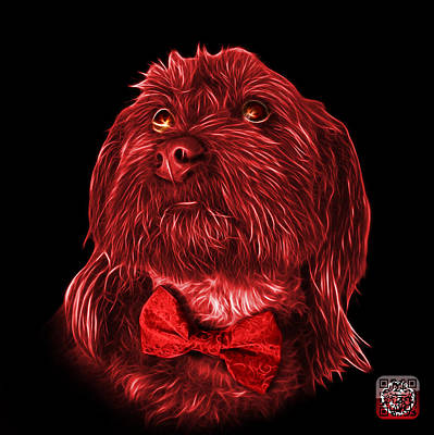 Painting - Red Schnoodle Pop Art 3687 - Bb by James Ahn