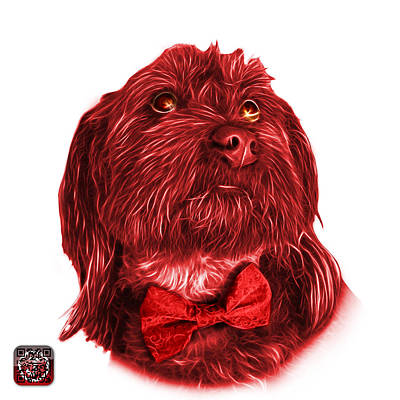 Painting - Red Schnoodle Pop Art - 3687 by James Ahn