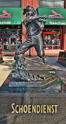 Photograph - Red Schoendienst Statue # 2 - Busch Stadium by Allen Beatty