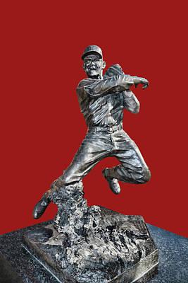Photograph - Red Schoendienst Statue - Busch Stadium by Allen Beatty