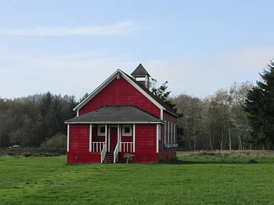 Photograph - Red Schoolhouse by Marilyn Diaz