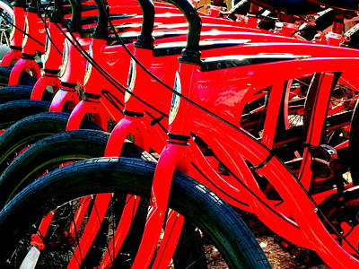 Photograph - Red Schwinn Bikes by Katy Hawk