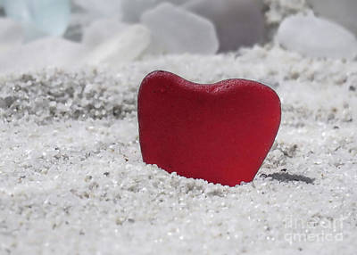 Photograph - Red Sea Glass  by Janice Drew