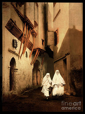 Photograph - Red Sea Street In Algiers - Remastered by Carlos Diaz