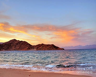 Red Sea Sunset On The Egyptian Coast Art Print