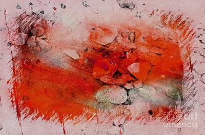 Red Seashells Art Print by Kathleen Struckle
