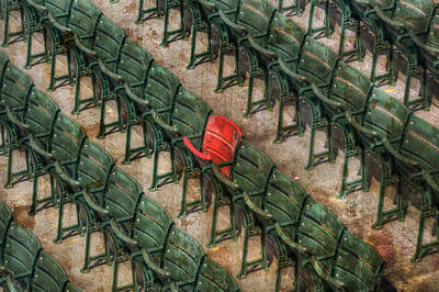 Fenway Park Photograph - Red Seat At Fenway Park - Boston by Joann Vitali