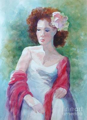 Painting - Red Shawl by Marilyn Jacobson