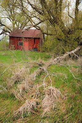 Photograph - Red Shed 2 by Jim Vance