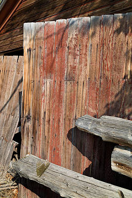 Photograph - Red Shed Door by Kathleen Bishop