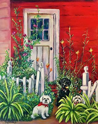 Painting - Red Shed by FayBecca Designs