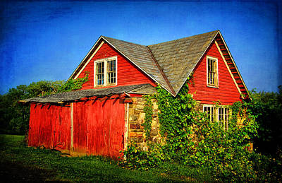 Photograph - Red Shed In The Sunlight by Carolyn Derstine