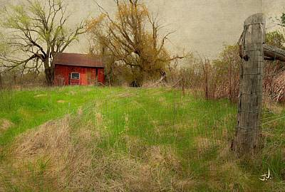 Photograph - Red Shed by Jim Vance