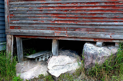 Photograph - Red Shed On Rocks by Douglas Pike