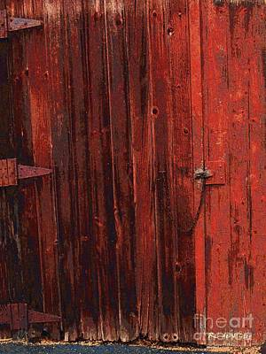 Shed Digital Art - Red Shed by RC deWinter