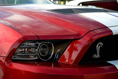 Photograph - Red Shelby by Dean Ferreira