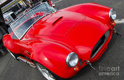 Photograph - Red Shelby Replica by Mark Spearman