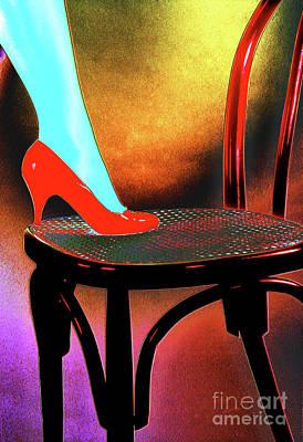 Red Shoe Art Print by Adriano Pecchio