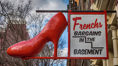 Stiletto Heel Photograph - Red Shoe Bargains by Stephen Stookey