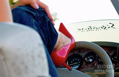 Photograph - Red Shoe Driving by Bob Pardue