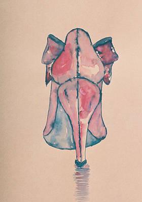 Red Shoe Art Print by Oudi Arroni