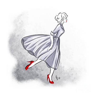 Digital Art - Red Shoes Red Lips by Cindy Garber Iverson