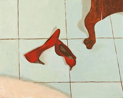 Red Shoes Art Print by Lissa Banks