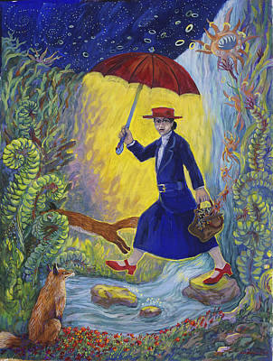 Painting - Red Shoes Mary Poppins by Shoshanah Dubiner